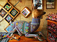 Deer, Beaded Huichol Art.