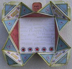 Napkin fold card - Scrapbook.com