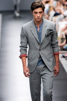 henley and suit combination