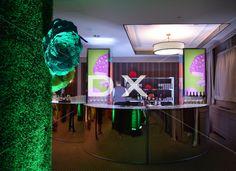 Bar rond 8' miroir- Mur de gazon et fleurs géantes-Tour Empire impression champignons by DX Design
