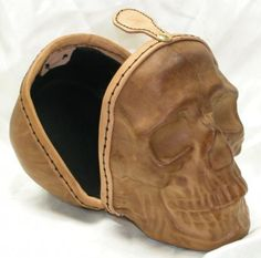 Molded leather scull