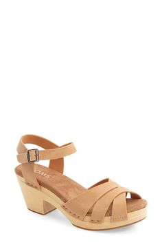 Free shipping and returns on TOMS 'Beatrix' Leather Sandal (Women) at Nordstrom.com. Buttery-soft leather straps crisscross atop a summer-ready sandal set on a chunky wooden heel and platform.
