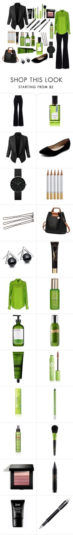 """""""Work Chic - Bold Beauty"""" by foreverdecadent ❤ liked on Polyvore featuring Alexander McQueen, Diana Vreeland, Jupe de Abby, Ollio, Newgate, Yves Saint Laurent, Ralph Lauren Black Label, Tata Harper, Perricone MD and Aesop"""