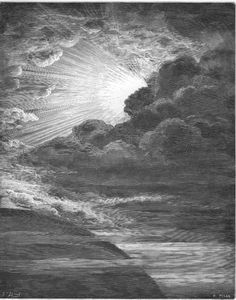 """The Creation of Light"" by Gustave Doré from ""The Holy Bible with Illustrations"""