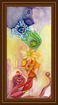Spiritual Art - Inspirational art - Chakra art - Chakra Colors - Chakra Symbols - Reiki Healing - Meditation by OlivosARTstudio on Etsy https://www.etsy.com/listing/198179911/spiritual-art-inspirational-art-chakra