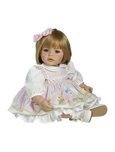 Adora Toddler Pin-A-Four Seasons Girl Weighted Doll Gift Set for Children Huggable Vinyl Cuddly Snuggle Soft BodyToy in Dolls. Baby Dolls For Toddlers, Baby Girl Dolls, Toddler Dolls, Reborn Toddler, Toddler Girl, Sandy Blonde Hair, Blonde Hair Blue Eyes, Pink Hair, Hair Bows