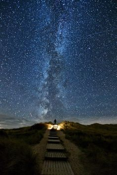 Milky Way as seen from the North Sea coast.