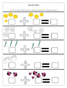 Fise de lucru - gradinita: FISE cu adunari pentru clasa Pregatitoare / Fise de lucru cu adunari Preschool Worksheets, In Kindergarten, Preschool Activities, First Grade Math Worksheets, 1st Grade Math, Letters For Kids, Math For Kids, Teaching Kids, Kids Learning