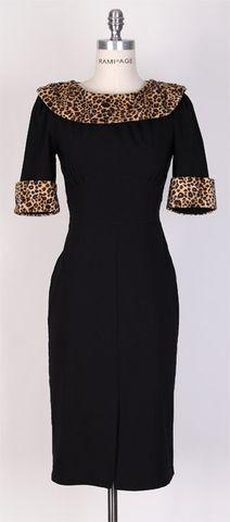 1950s Leopard Wiggle Dress-7269