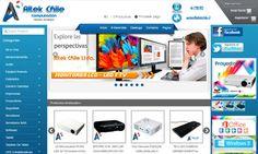 Diseño de sitio web para AltekChile. Computación - Tienda Virtual.