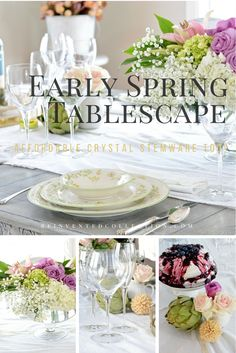 Break into spring with this early spring tablescape ideas and check out where I found excellent affordable crystal stemware from  Italian glassmakers.