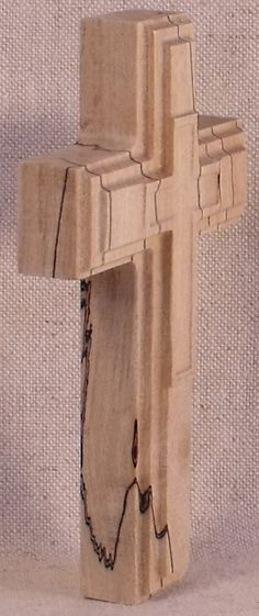 Spalted Maple Stepped Cross