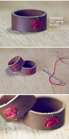 Leather Ring - Inspire to Make (great site!)