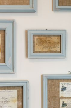 How to distress a picture frame using chalk paint. This is a great picture frame diy.