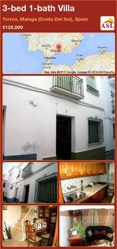 3-bed 1-bath Villa in Torrox, Malaga (Costa Del Sol), Spain ►€125,000 #PropertyForSaleInSpain