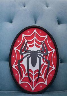 Spider man light Spider man logo lamp Spider man night light   Etsy