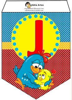 EUGENIA - KATIA ARTES - BLOG DE LETRAS PERSONALIZADAS E ALGUMAS COISINHAS: Bandeirolas Galinha pintadinha 2