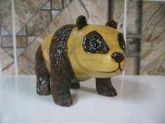 Panda de madeira