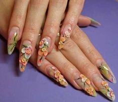 3d-Acrylic-Flowers-Nail-Art-Design-Idea.jpg (600×518)