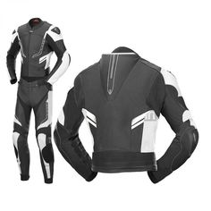 Motorbike Racing 2piece Suit 100%Cowhide Leather CE Approved Protected All Sizes