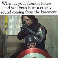 Winter Soldier having Captain America's back like my best friend has mine :)