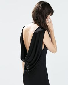 DRESS WITH DRAPING AT THE BACK