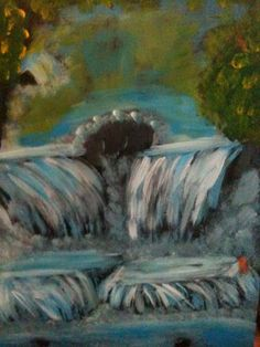 Lago e cascata cm 35:70 on Etsy, 38,42€ Abstract Trees, Waterfall, Survival, Etsy, Graphics, The Originals, Artwork, Painting, Art Work
