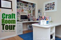 Craft Room Tour - fantastic use of space. I cover the paper storage. Craft Organization, Craft Storage, Storage Ideas, Shelving Ideas, Paper Storage, Shelves, Storage Room, Organization Ideas, Recollections Craft Room Storage