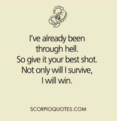 Scorpio Quotes : Picture Quotes - Scorpio Traits - Scorpio Sayings Scorpio Traits, Libra, Scorpio Love, Scorpio Zodiac Facts, Scorpio Quotes, Bitch Quotes, Me Quotes, Scorpio Woman, Astrology Scorpio