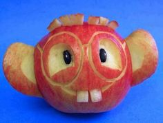 what a bashful looking apple