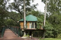 The Robbin's Nest tree house, built by Captain Charles Robbins, became available to rent on Airbnb in March and has been booked every weekend since. (Port City Daily photo / Johanna Ferebee)