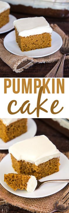 Pumpkin cake topped
