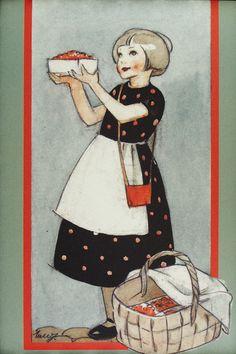 Vintage Children's Books, Vintage Postcards, Vintage Art, Vintage Christmas Cards, Christmas Art, Picture Logo, Scandinavian Art, Country Art, Red Riding Hood