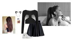 """Halloween Horror Nights With Ari"" by hanakdudley ❤ liked on Polyvore featuring moda, MSGM e Converse"