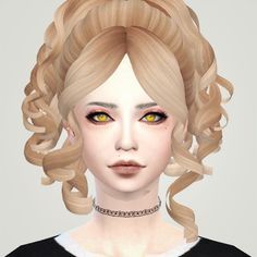 Liahxsimblr: Alexandrasine-Curved Bob, Decayclown ME!ME!ME! and Skysims 245 hairstyle for Sims 4 - Sims 4 custom content