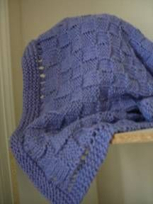 Blue Knit Baby Blanket-free pattern