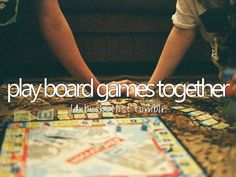 With you. It would get crazy competitive crazy fast, but it would be crazy fun!