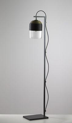 Articolo Indi Olive and Black Floor Lamp with Articolo Black Stand and Black Flex articololighting.com #articololighting #lighting #floorlamp #lamp #architecturallighting #glasslight #feature #custommade #unique #interiors #interiordesign #decor #homedecor