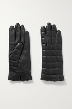 Black Leather Gloves, Black 7, Quilted Leather, Chanel Black, Menswear, Pairs, Dip, Cuffs, Lamb