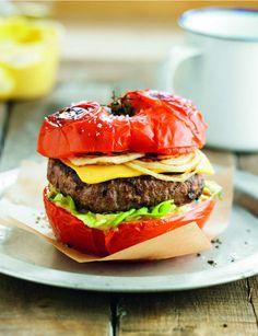 Hamburger de tomateCette recette originale a de quoi surprendre quant