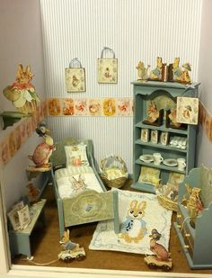 Peter Rabbit room made by Jolanda Knoop