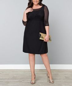 Look what I found on Black Noir Mesh Morgan Empire-Waist Dress - Plus Plus Size Dresses, Plus Size Outfits, Nice Dresses, Dresses For Work, Curvy Fashion, Plus Size Fashion, Plus Size Looks, Black Noir, Girl Outfits