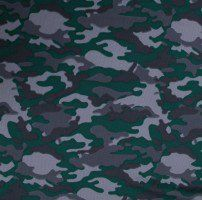 Hunter Green Camouflage Dimple Mesh Poly Stretch Sports Knit Fabric