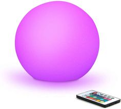 Multi-Color LED Orb Mood Lamp with Remote Control - Set your own color and light effects! Orb Light, Light Up, Lighted Centerpieces, Mood Lamps, Globe Lamps, Ball Decorations, Glow Party, Ball Lights, Color Changing Led