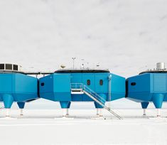 Photographs of the Futuristic Antarctic Ice Station That Can Move On Skis