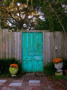 Aqua garden gate