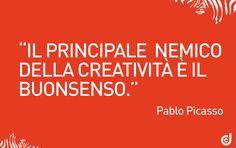 #aforisma #citazione #creatività #picasso #frasifamose #comunicazione