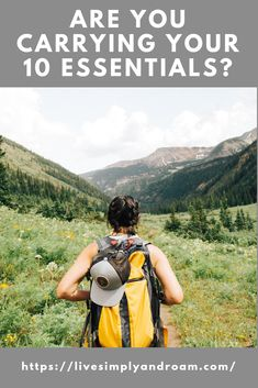 Learn about the 10 essentials you need to have with you for hiking or any outdoor adventure. Don't be left without them. Everything you need to carry on the trail. Be prepared for emergencies. 10 Essentials for your backpack.