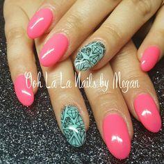Fully sculpted gel nails. #oohlalanailsbymegan
