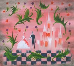 "Mary Blair concept art for Walt Disney's ""Cinderella"" (1953)"